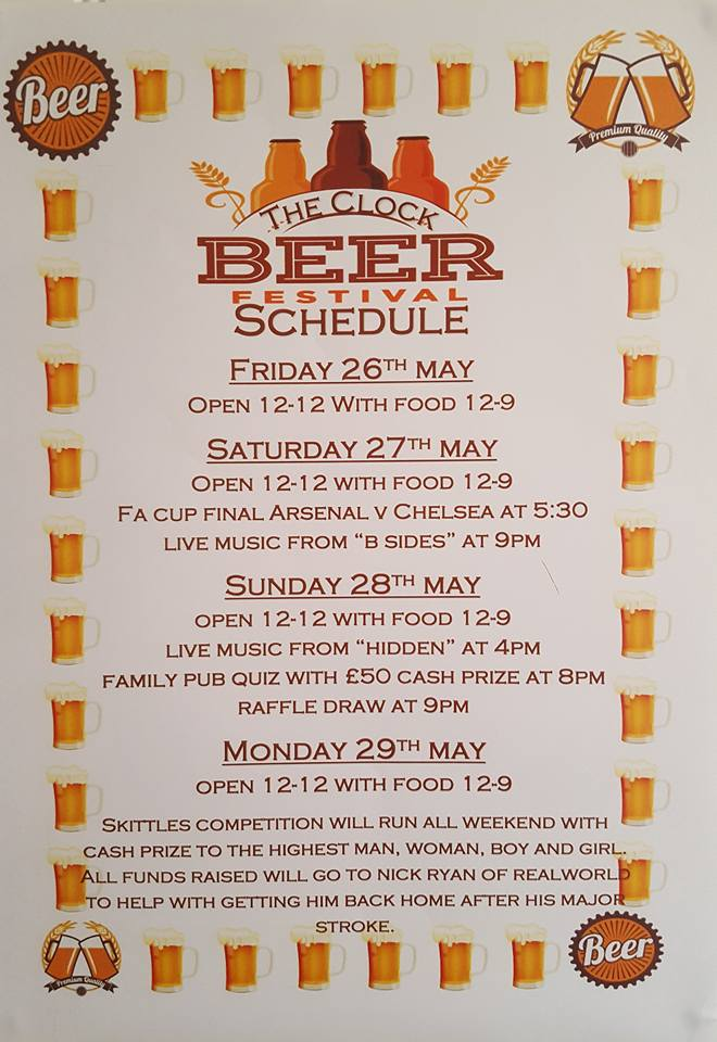 clock beer festival may 2017
